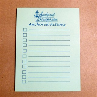 Anchored Actions To Do 50-Sheet Pads – Set of 2