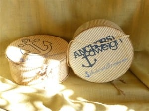 The Anchored Scraps Correspondence Hat box