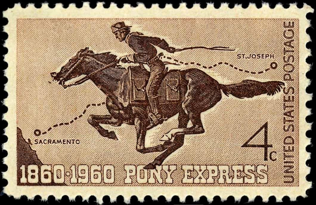 Pony Express 1960 Commemorative Stamp