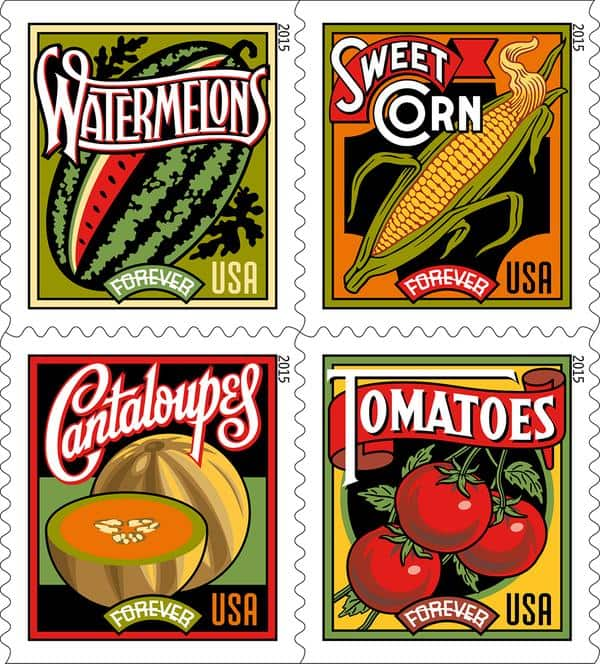 Summer Harvest Stamps (& Farmer's Market)
