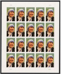 MotherTeresaPaneof stamps