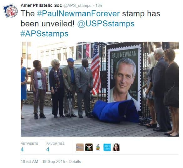 Paul Newman Forever Stamp Issued Today