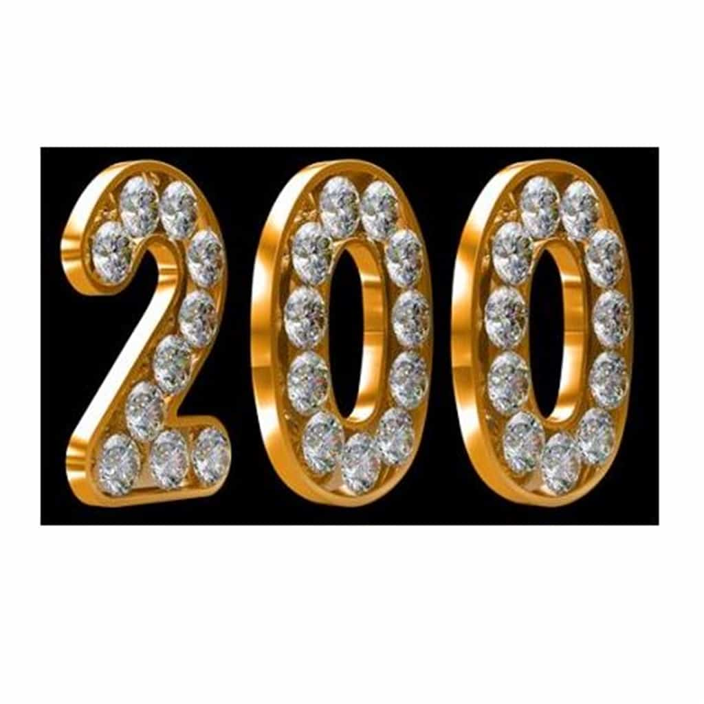 Celebrating blog post 200!