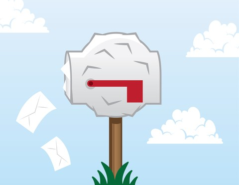 3D bulky lumpy dimensional mail