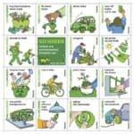 Go Green Seeded Postcards Set