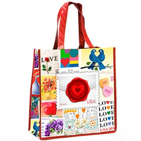 Postage Themed Tote Bags