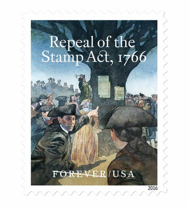 Repeal of the Stamp Act 1766 stamp released
