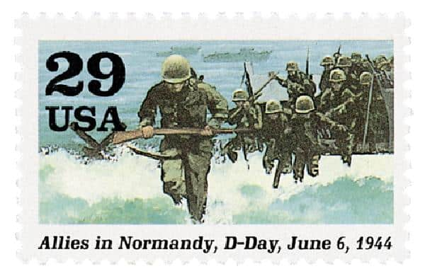 D-Day Stamp and Letters written after D-Day