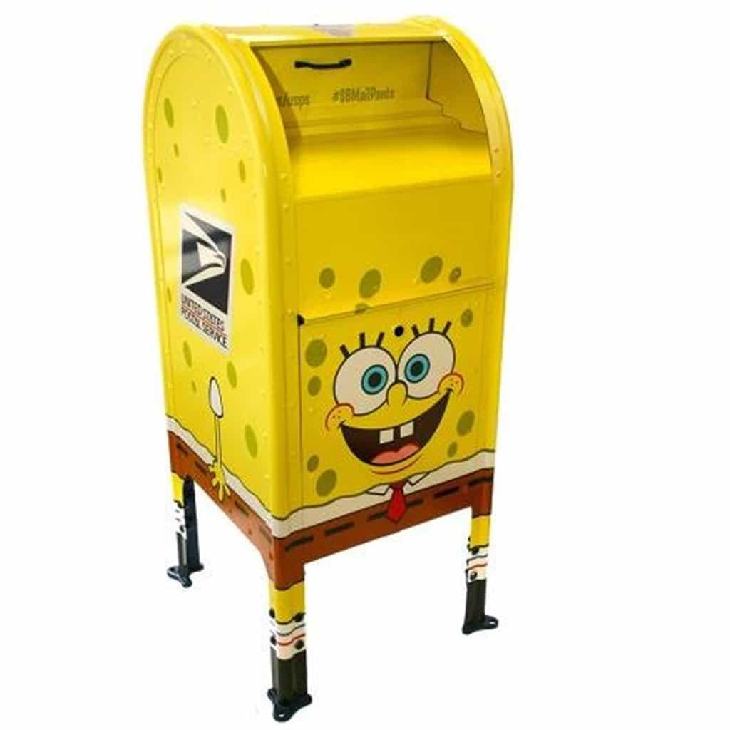 Postal Museum Family Day SpongeBob Mailbox
