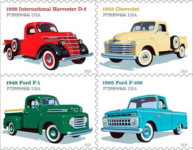 New Pickup Trucks stamps debut today July 15