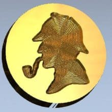 Sherlock Holmes Themed Stamp Letter Seal
