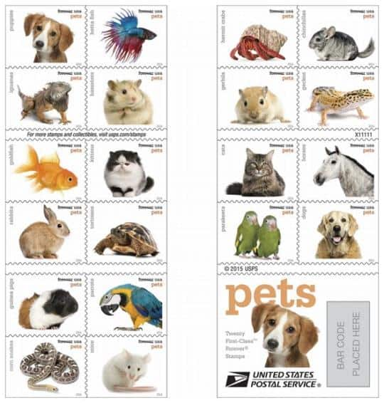 New Pets Forever Stamps debut today August 2nd