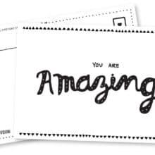 Pipsticks Amazing Printable Postcards
