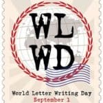 Welcome September 01 World Letter Writing Day