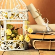 Birdcage Letter Writing DIY Organizers