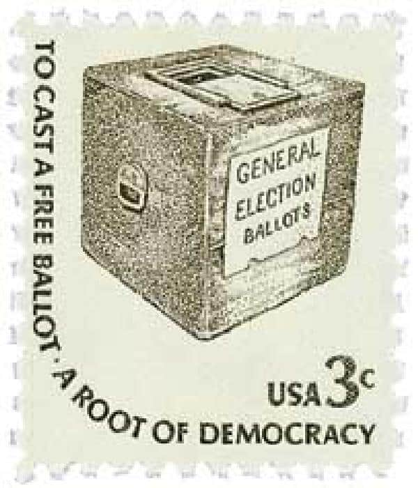 Early Ballot Box 1977 stamp