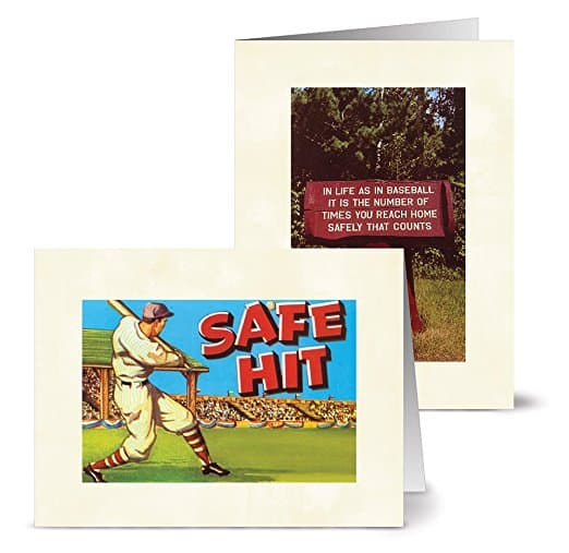 Vintage Baseball Note Cards