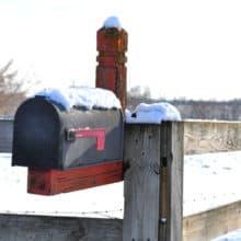 dashing through the mail