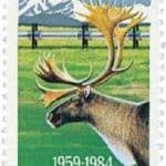 North to Alaska Statehood 1984 stamp