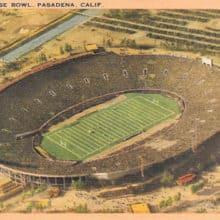 Rose Bowl Vintage Postcard 1950s