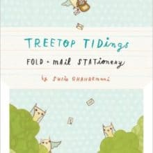 Owl mail Treetop Tidings Fold and Mail Stationery