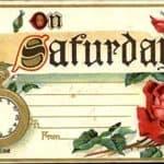 CardCow Vintage Days of Week Postcards