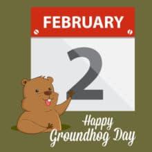 Groundhog Day Punxsutawney Phil Postcards