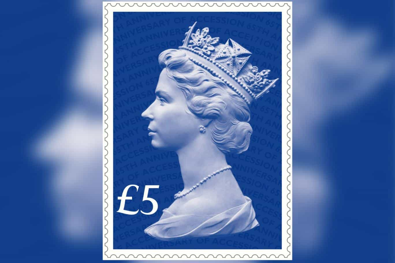 Queen Elizabeth II Sapphire Jubilee stamp