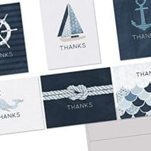 Ship Ahoy! Letter Writing Nautical Thank You Note Cards