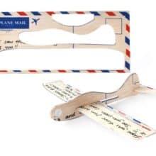 Ode to Dad's Model Airplane & Balsa Wood Postcard Aeroplanes