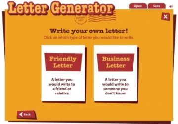 ReadWriteThink Letter Generator Interactive Tool