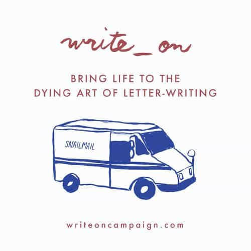National Letter Writing Month 2017 Write_On Challenge