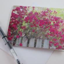 Azalea Note Cards Stationery by Rustic Barn Studio