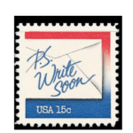 Write Soon Letter Writing 1980 stamp