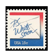 P.S. Write Soon Letter Writing 1980 stamp & TED Talk by Omar Ahmad 2010 Writing Letters to Your Representatives