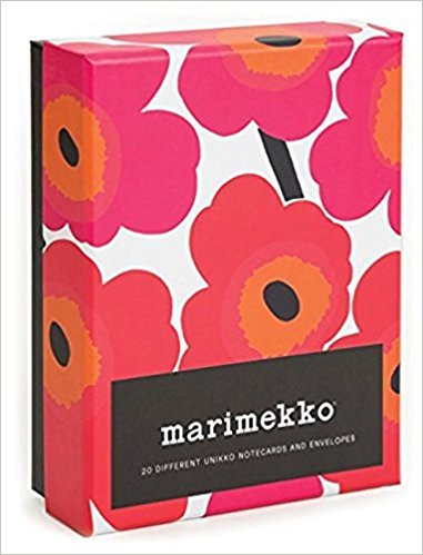 Marimekko 100 Postcards Card Book & Marimekko Unikko Notecards Stationery