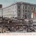 1906 Great San Francisco Earthquake Post Office Postcard