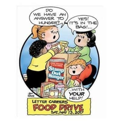 Stamp Out Hunger Food Drive 2017 May 13