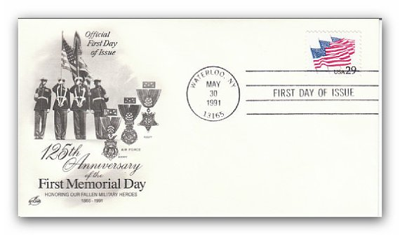 Memorial Day Flags on Parade 1991 FDC
