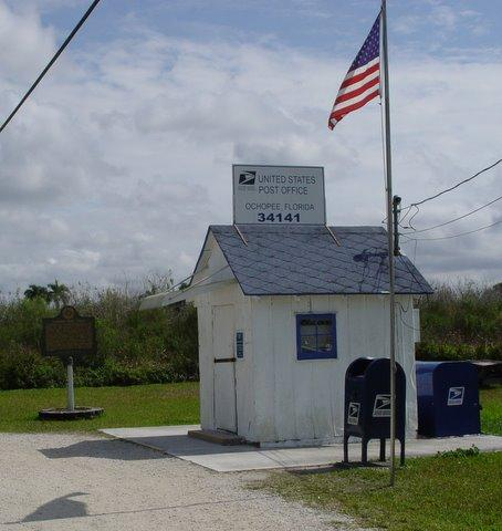 Smallest US Post Office Ochopee Florida 34141