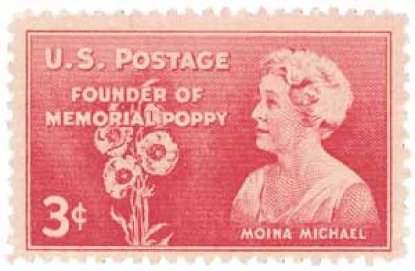 1948 Moina Michael The Poppy Lady stamp