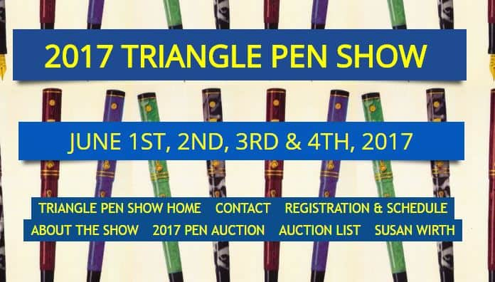 Research Triangle Pen Show 2017 June 01-04