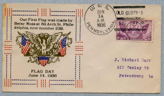 2017 – Looking at Flag Day Envelope Cachets