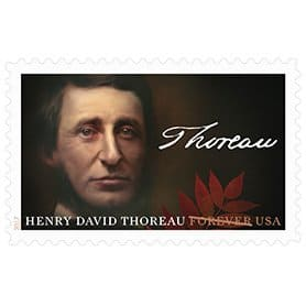USPS Henry David Thoreau 2017 Forever Stamp
