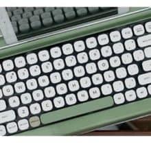 c30c3e2cbb6 Penna Typewriter Style Retro Bluetooth Keyboard | AnchoredScraps.com