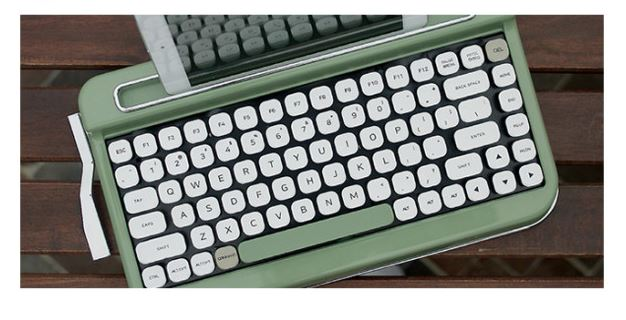 Penna Typewriter Style Retro Bluetooth Keyboard