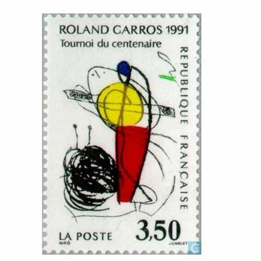 Tennis Roland Garros 1991 Stamp