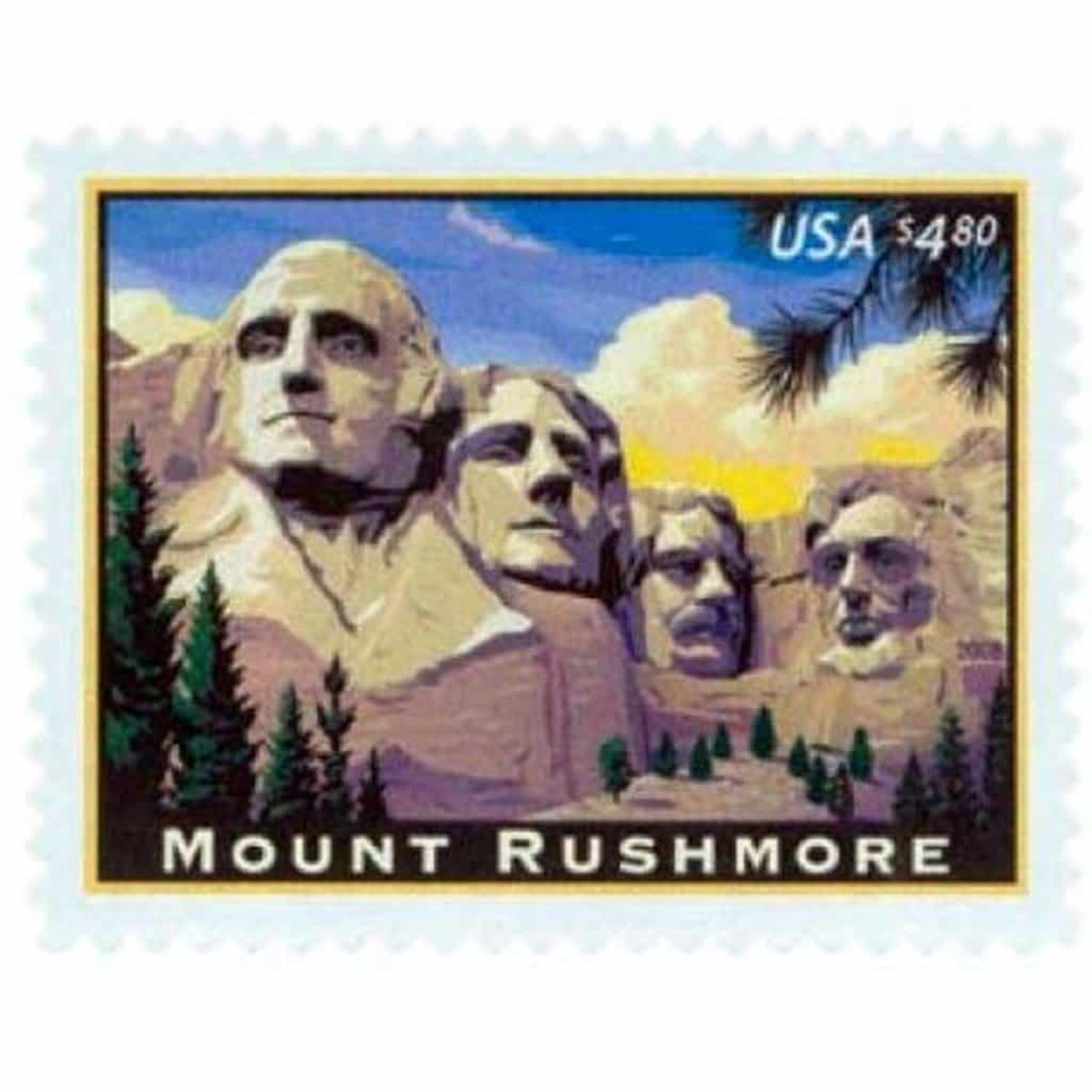 Four Mount Rushmore National Memorial Stamps