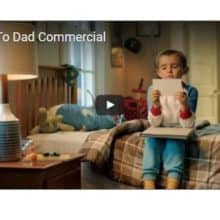 Mailing Paper Airplane Letters to Dad Commercial
