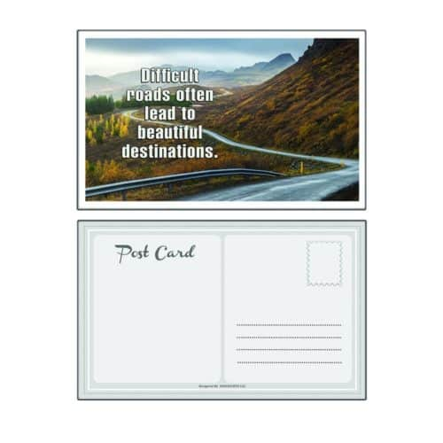 Inspirational Motivational Quotes Postcards Pack